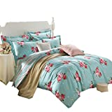 DIDIDD Duvet cover sets 4 piece / pure cotton stylish style bed sheet quilt cover the bedroom preferred /four seasons common,Fashion -C