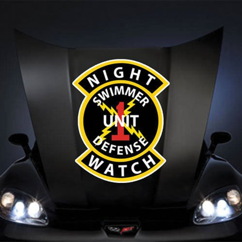 """Price comparison product image US Navy Night Watch Unit 1 20"""" Huge Decal Sticker"""