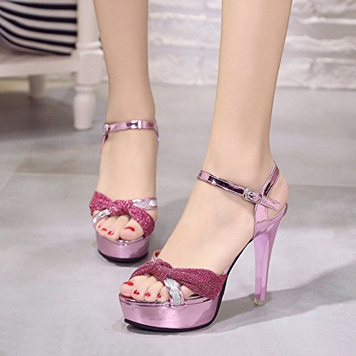 Dress Platform Fashion Stiletto T Ladies Pumps Toe Open Shoess Wedding Pink Sexy Slip Party Womens Heels On High JULY S4qwBP6
