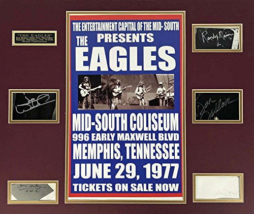 The Eagles Signed Autographed 20×24 Signature Display Walsh Henley Frey JSA