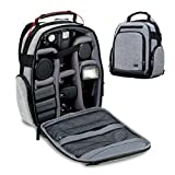 USA GEAR DSLR Canon Camera Backpack Carrying Bag for Canon EOS Rebel 1200D 70D , Nikon D3300 D3400 D7100 D5500 D5300 , Canon Rebel T5i T5 T6 Neewer BG-E8 Canon EOS 1300D , Pentax K-50 and more