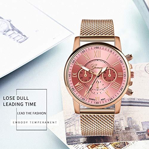 Pocciol Fashion Military Stainless Steel Quartz Watch Womens Casual Watch Luxury Analog Wristwatch (Pink) by Pocciol Cheap-Nice Watch (Image #6)
