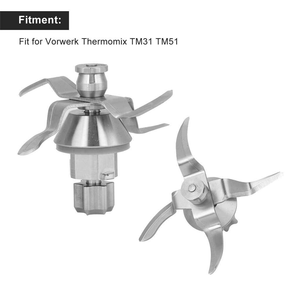 Blender Blade,Stainless Steel Blender Blade Replacement Part Accessories Fit for Vorwerk Thermomix TM31 TM51 Crusher Blade
