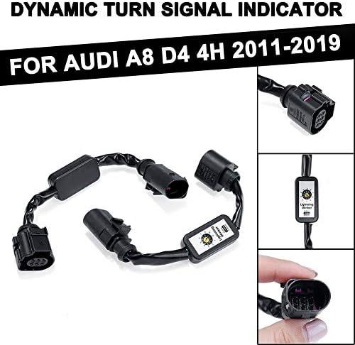 2Pcs F/ür Audi A8 D4 4H 2011-2019 Linke Und Rechtes R/ücklicht Dynamische Blinker LED R/ücklicht-Indikator WPFC Add-On-Modul Kabelbaum