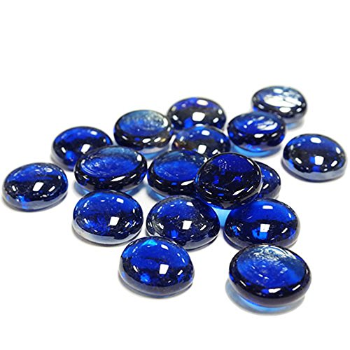 CYS EXCEL GGM001B-5BCYS Vase Filler Gem Glass Confetti, Table Scatters, Cobalt Blue, 5 lbs, Approximately 500 pcs (GGM001B-5B) by CYS EXCEL