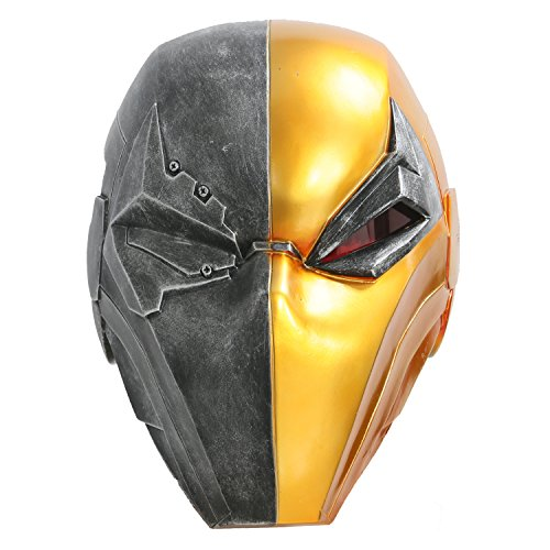 XCOSER Deathstroke Mask Helmet Halloween Costume Props for Adult Resin -