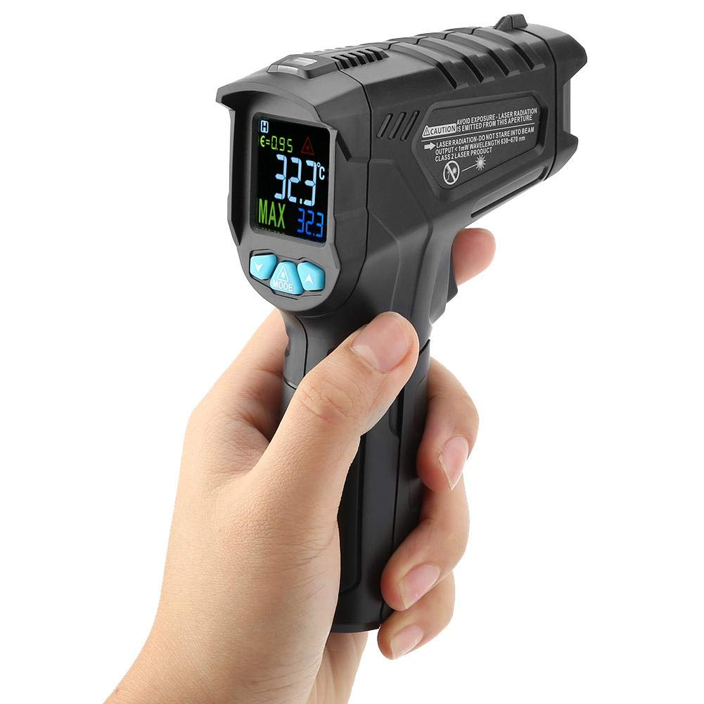 MESTEK IR01A // IR01B // IR01C LCD Anzeige Ber/ührungsloses digitales Infrarot Thermometer ber/ührungsloses digitales Temperaturmessger/ät Pyrometer Digitales Thermometer IR01B