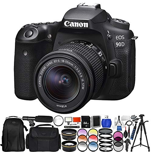 Canon EOS 90D DSLR Camera with 18-55mm Lens Pro Essential Bundle