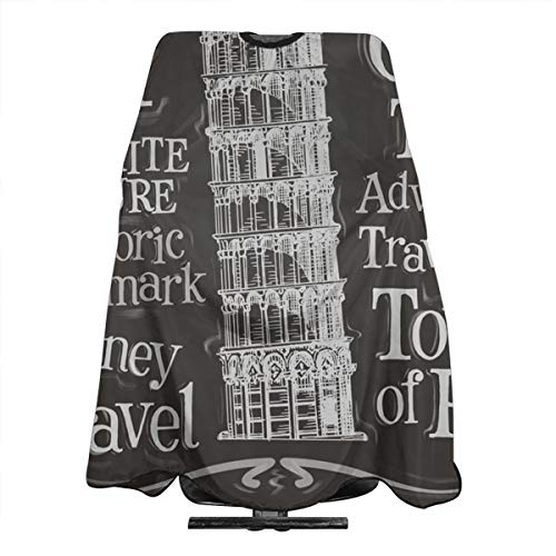 (SWESQA7 Italy Logo Leaning Tower Fun Pattern Haircut Apron 55