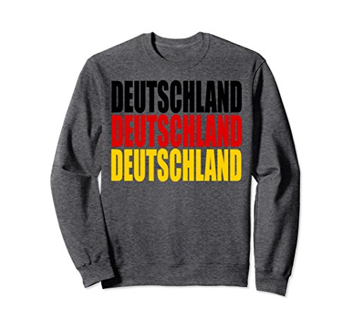 Unisex Germany Jersey Soccer Sweatshirt Deutschland3X Fussball 2018 Medium Dark Heather - Soccer Soccer Sweatshirt