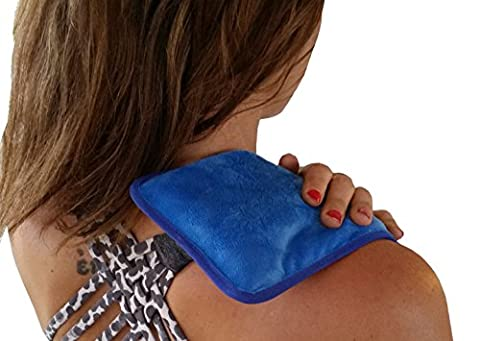 Gel Ice Pack and Microwave Heating Pad For Muscle Pain Relief. Heat Packs Or Cold Therapy Ice Pack With Cloth Backing. Cold Pack For Back Pain, Microwaveable Heat (Animal Temperature Controller)