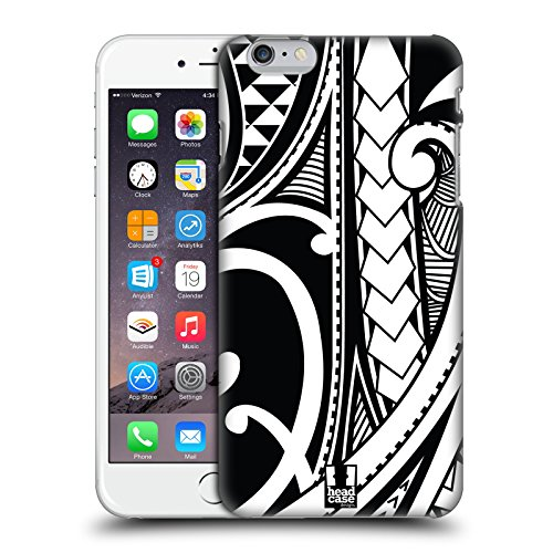 Head Case Designs Ornate Swirl Samoan Tattoo Protective Snap-on Hard Back Case Cover for Apple iPhone 6 Plus 5.5