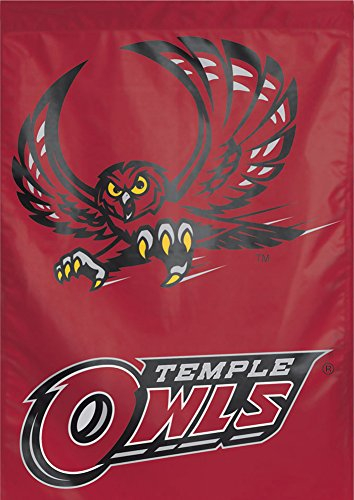 Wincraft NCAA Temple University TU Owls Vertical Flag, 28 x 40 inches, Single Sided
