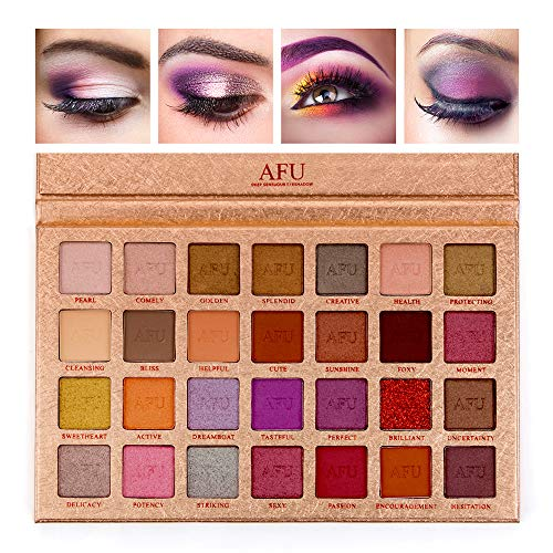 AFU CHARM Series Deep Sensuous Eyeshadow Palette Matte + Shimmer 28 Colors Makeup Highly Pigmented Professional Natural Bronze Nudes Neutral Smokey Blendable Waterproof Eye Shadows Cosmetic]()