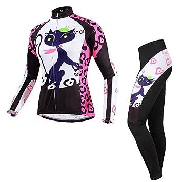 BATFOX de las mujeres traje Jersey de ciclo caliente a ...