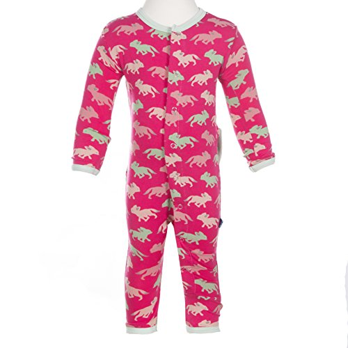 Kickee Pants Baby Girls' Fitted Coverall in Prickly Pear Desert Fox, 6-12M