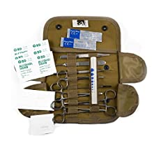 FIRST AID Tactical KIT WITH MILITARY MOLLE COMPATIBLE POUCH- Coyote Tan- STOCKED - Ideal for Camping, Firefighters, EMT, First Responders, Police and Military