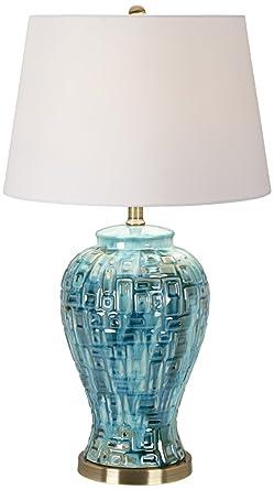 Teal temple jar 27 high ceramic table lamp amazon teal temple jar 27quot high ceramic table lamp aloadofball Choice Image