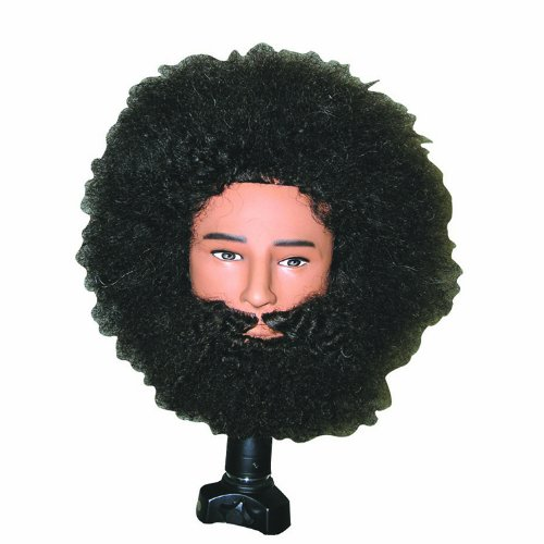Celebrity Tyrone Afro Manikin Wi Beard and Mousta Hair Cutting Kit by CELEBRITY