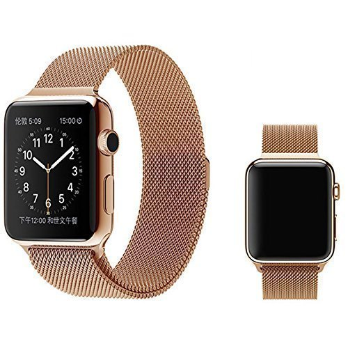 35 opinioni per Per Apple Watch- Cinturino Trop Saint®- Maglia Milanese (42mm) con Magnete di