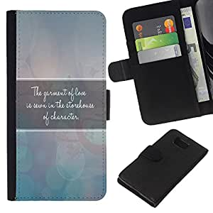 EJOY---La carpeta del tirón la caja de cuero de alta calidad de la PU Caso protector / Samsung ALPHA G850 / --BIBLIA manto de Amor
