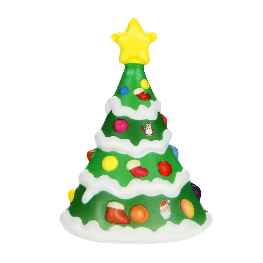 Cloudro Christmas Tree Squishies Jumbo Toys-Squishies Slow Rising Animal Scented Food Squishy for Boys Girls Party Stress Reliever Toy Home Decor-Gift for Christmas Thanksgiving Day (A)