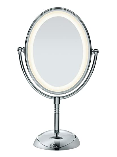 a35ea2641839 Conair Double-Sided Lighted Makeup Mirror - Lighted Vanity Makeup Mirror  with LED Lights; 1x/7x magnification; Polished Chrome Finish