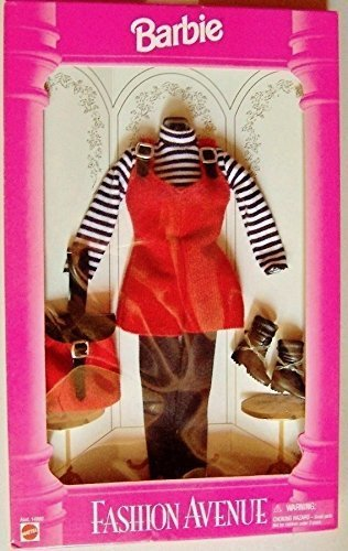 1995 Barbie Fashion Avenue denim overalls set