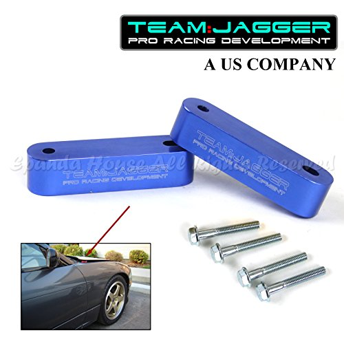 For 90-15 Accord JDM Style Hood Riser Spacer Vent Engine Hot Air Anodized Blue