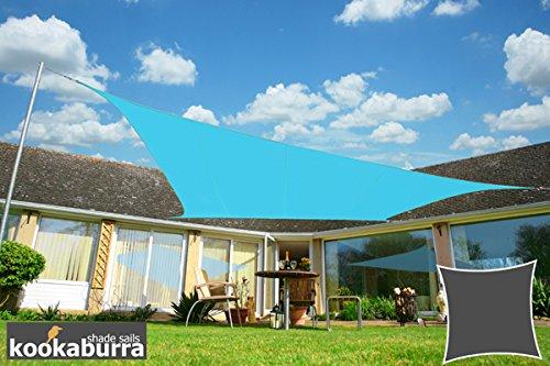 クッカバラ日除けシェードセイル 空色 5.4x5.4m正方形 紫外線98%カット 防水タイプ OL0110LS B003ODHQ2A 12995 四角: 5.4 x 5.4m  四角: 5.4 x 5.4m