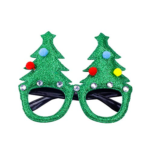 Christmas Tree Snowman Glasses Frame for Holiday Party Decorations