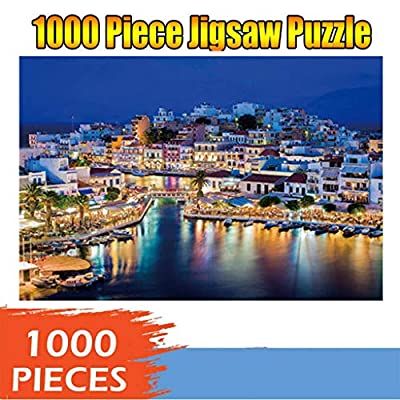 Jigsaw Puzzles for Adults Lovers 1000 Pieces Island Night View Landscape Puzzles Gift Toys 1000PCs, Home Decor: Toys & Games