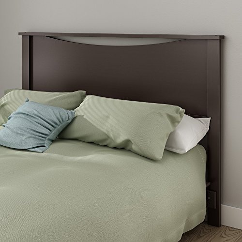 South Shore Step One Headboard, Full/Queen 54/60-Inch, Chocolate ()