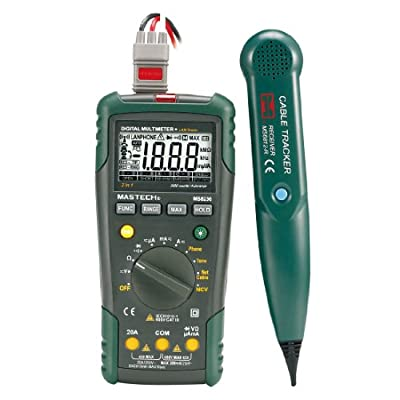MASTECH MS8236 Autoranging Digital Multimeter LAN Tone Phone Detector Cable Tracker Voltage Tester