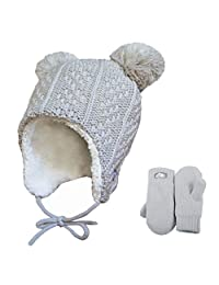 Warm cute baby toddler kid's fall winter earflap beanie hat