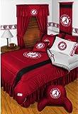 Alabama Crimson Tide NCAA Bedding - Sidelines Comforter and Sheet Set Combo - Queen