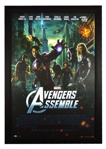 """Avengers Assemble, Marvel Hulk Iron Man Thor 24""""x36"""" Framed"""