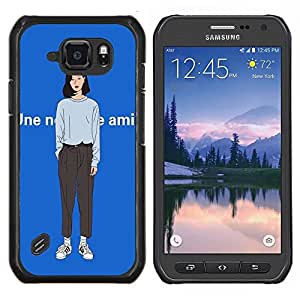 Dragon Case - FOR Samsung Galaxy S6 active/G870A/G890A (Not Fit S6) - ?you come back? - Caja protectora de pl??stico duro de la cubierta Dise?¡Ào Slim Fit