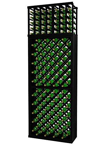 Designer Series Wine Rack - Individual Diamond Bin - 8 Ft - Allheart Redwood Midnight Black Stain - No ()