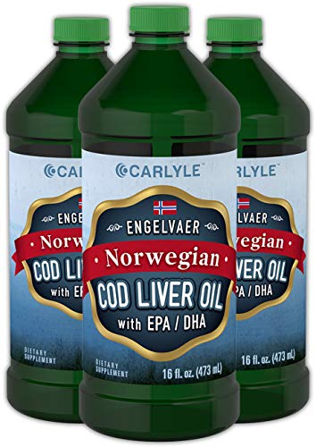 (Carlyle Cod Liver Oil Liquid 16 fl oz, 3 Bottles)