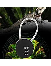 Mini Code Lock, 3 Digitale Combinatie Hangslot Draad Touw Hangslot voor Huisdier Ecologische Doos Reistassen Koffer Lockers