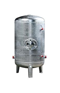 Druckbehälter 100 150 200 300 500 L 6 bar senkrecht verzinkt Druckkessel für Hauswasserwerk senkrecht stehend (100L)