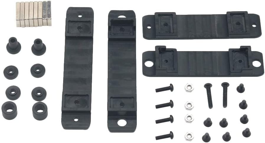 Ktyssp Magnetic Stealth Invisible Car Shell Column Body Post Mount for Traxxas TRX4 T4