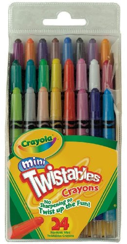 Crayola Mini Twistable Crayons 24 in a Box (Pack of 3) 72 Crayons in Total -