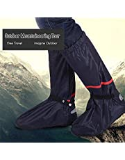 RuleaxAsi 1# غطاء أحذية المطر المقاوم للماء قابل لإعادة الاستخدام غطاء أحذية الجليد مع عاكس مضاد للانزلاق أحذية تغطية النساء الرجال XXL LCMRULEAXASIK11018-XXLOSSA