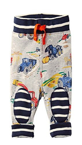 Boys Cotton Pants Drawstring Elastic Sweatpants By Jobakids