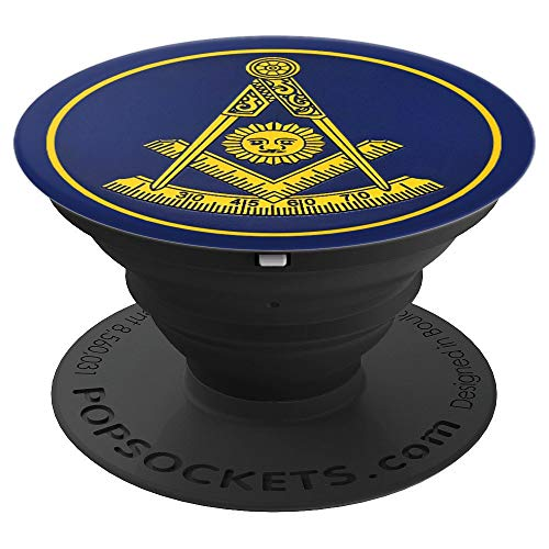Freemasonry Past Master Blue Lodge Masonic Emblem - PopSockets Grip and Stand for Phones and Tablets