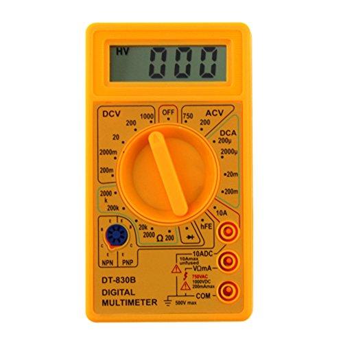 AMZVASO DT-830B LCD Digital Display Multimeter AC/DC 750/1000V Amp Volt Ohm Tester Meter Voltmeter Ammeter Current Tester( 1pcs random color)