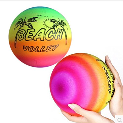 Rainbow Volleyball Outdoor Sports Toy Beach Ball 5pcs/lot Suit For Parent-child Toy,beach Toys,ktv Bar ,etc Outdoors Activity Sports.