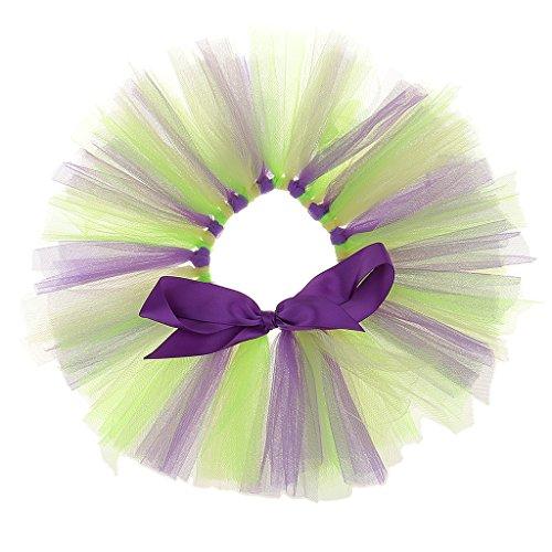 Jili Online Lovely Novelty Tulle Wine Bottle Tutu Skirt for Bottle Doll DIY Dress Costume Table Decoration - Purple + (Tutu Costumes Diy)
